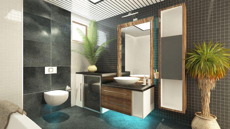 baños de lujo con vegetacion