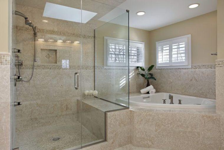 baños de lujo ducha vidrio