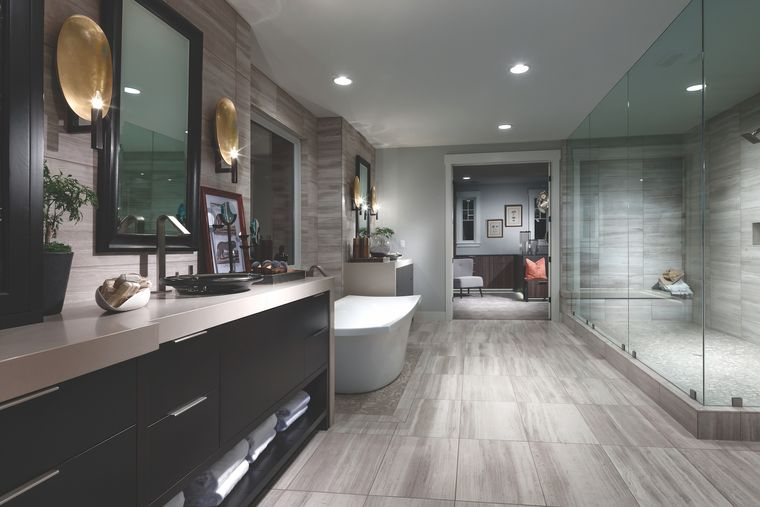 baños de lujo gris