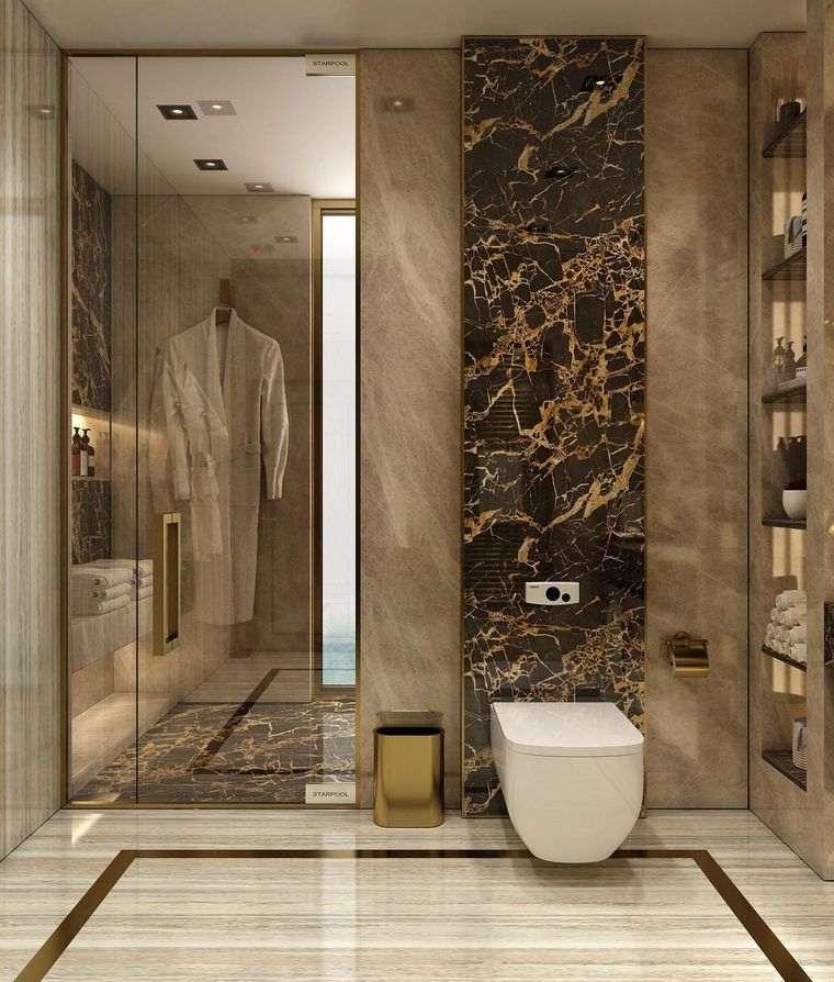 baños de lujo inodoro moderno
