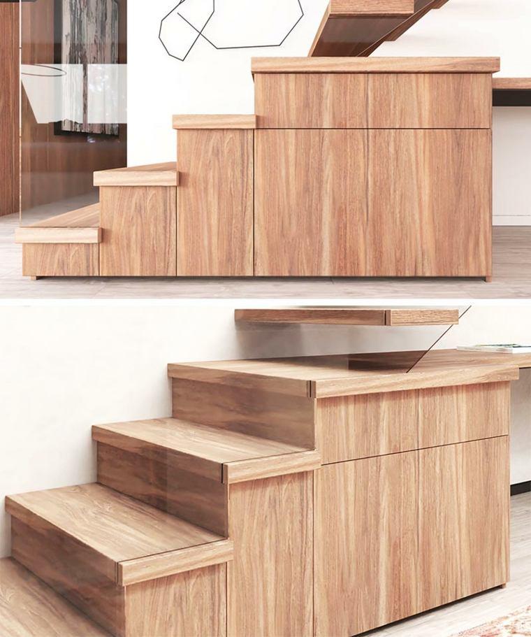 bajo escalera-oficina-madera-moderno-ideas