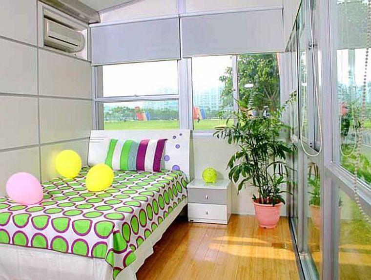 casas de contenedores amplio dormitorio