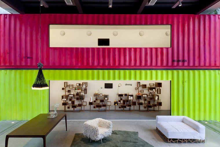 casas de contenedores pintado interior