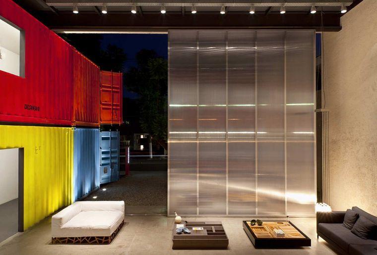 casas de contenedores pintado salon