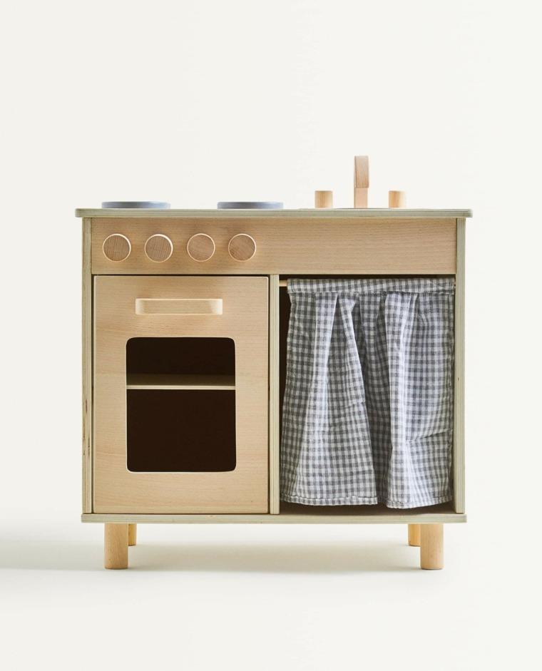 Cocina infantil de madera para niños de Zara Home