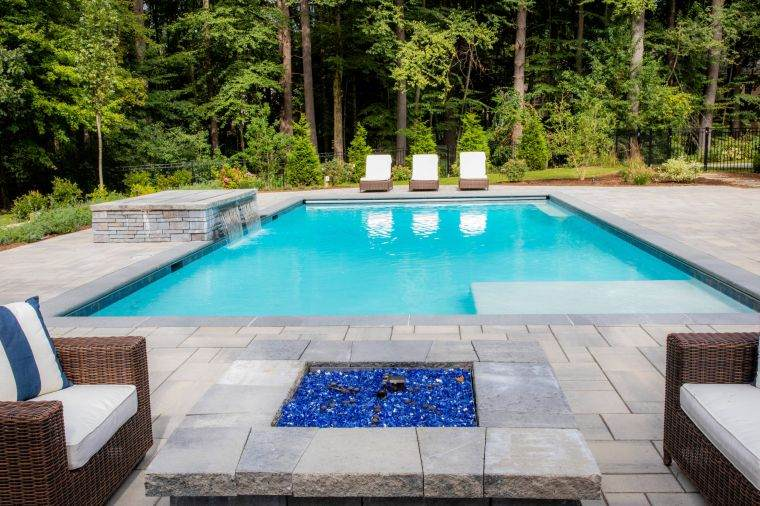 How to heat the water in a fire pit pool