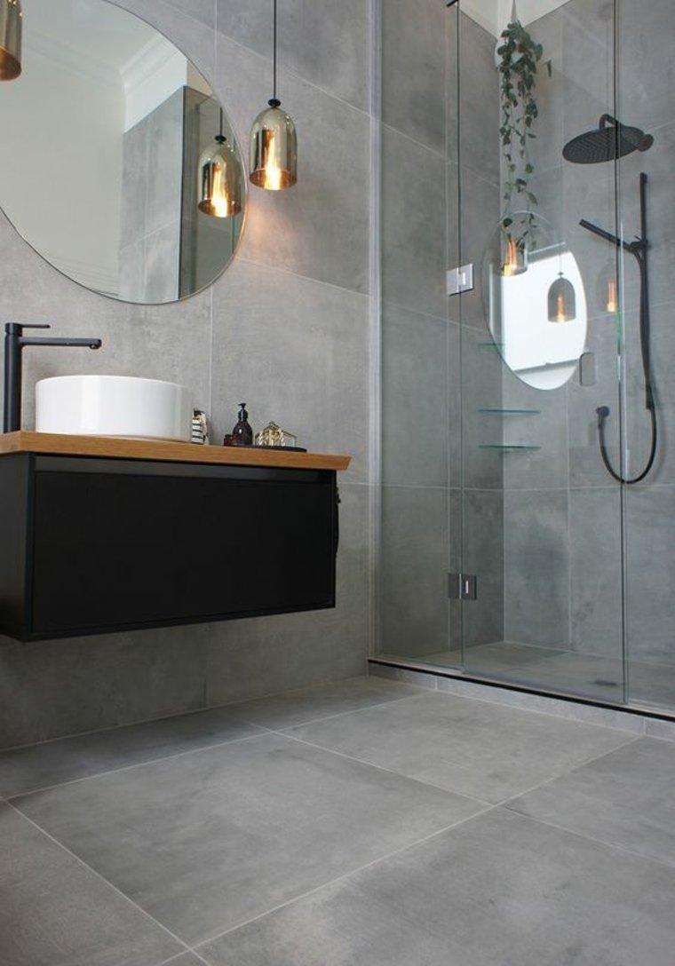diseño de interiores baldosas grises