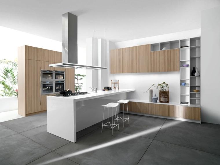 diseño de interiores gris con madera