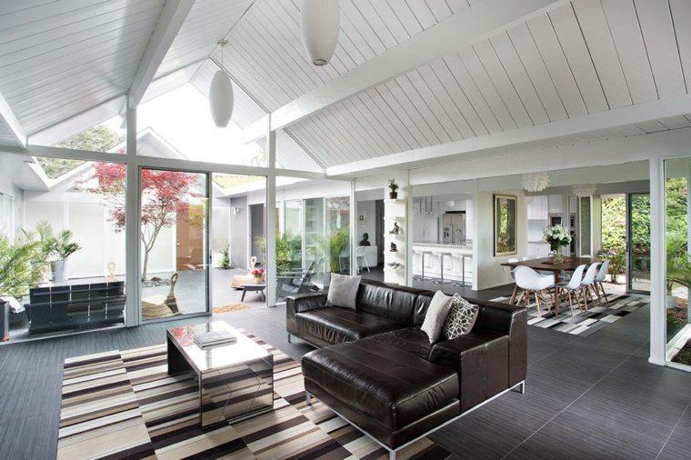 diseño de interiores suelo gris