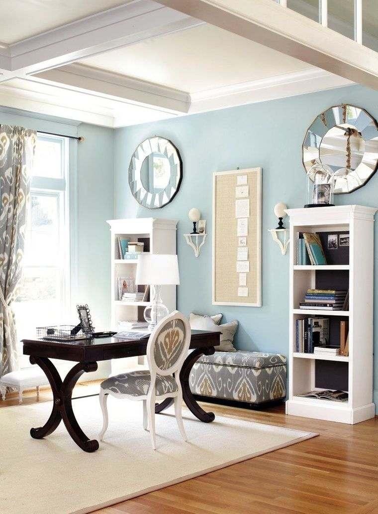 diseño de oficinas azules