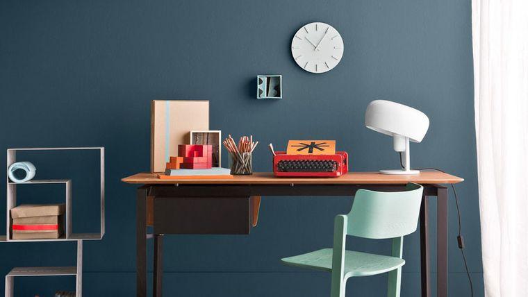 diseño de oficinas con azul