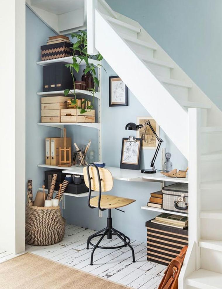 Oficina bajo escalera – Ideas para crear un bonito lugar de trabajo