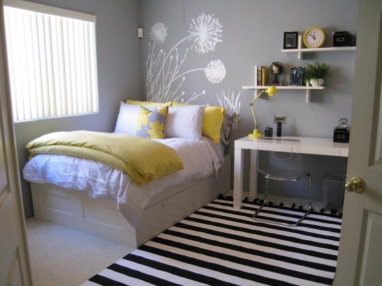 dormitorios juveniles alfombra