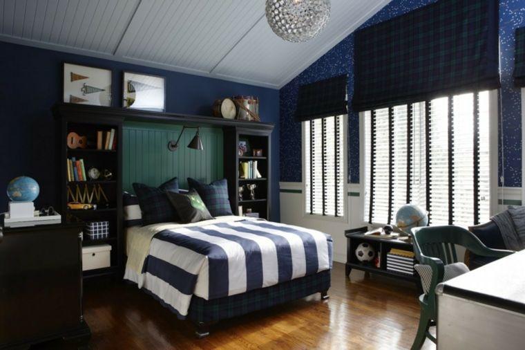 dormitorios juveniles azul oscuro