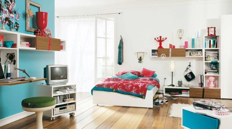 dormitorios juveniles color