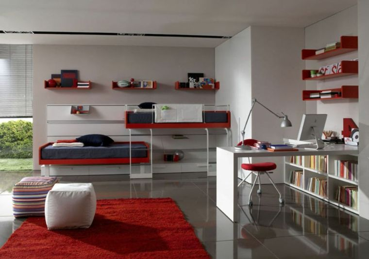 dormitorios juveniles compartidos