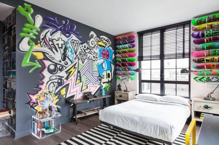 dormitorios juveniles graffiti