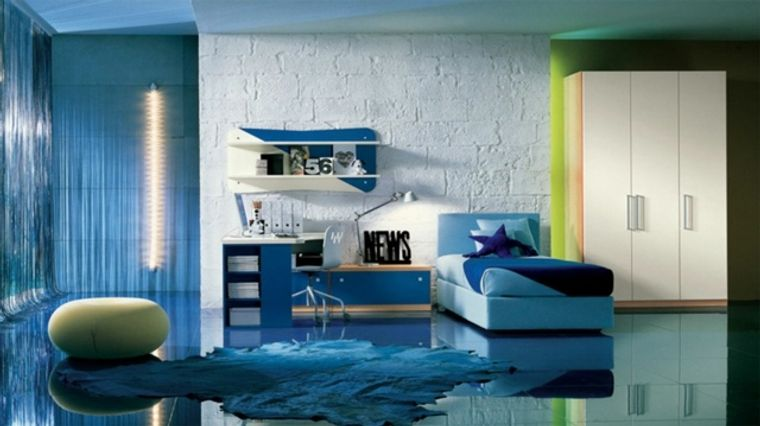 dormitorios juveniles piso brillo