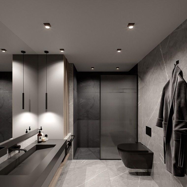 duchas-modernas-mampara-color-oscuro