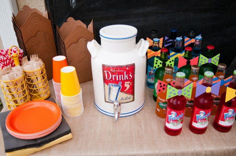 fiesta de cumpleaños bebidas refrescantes