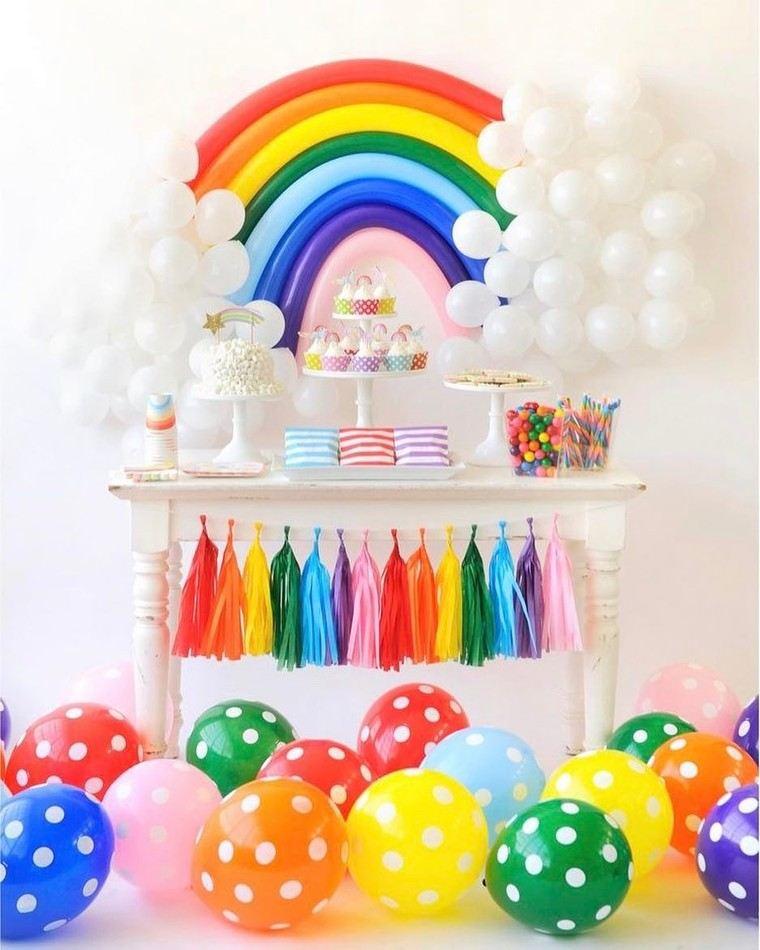 fiesta de cumpleaños colores arcoiris