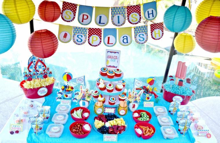 fiesta de cumpleaños colores llamativos