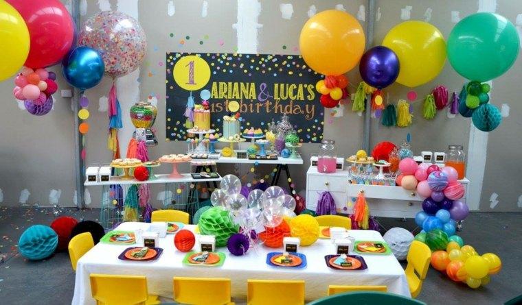 fiesta de cumpleaños colorida