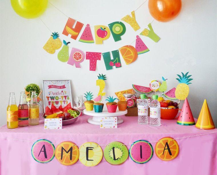 fiesta de cumpleaños con tematica frutas