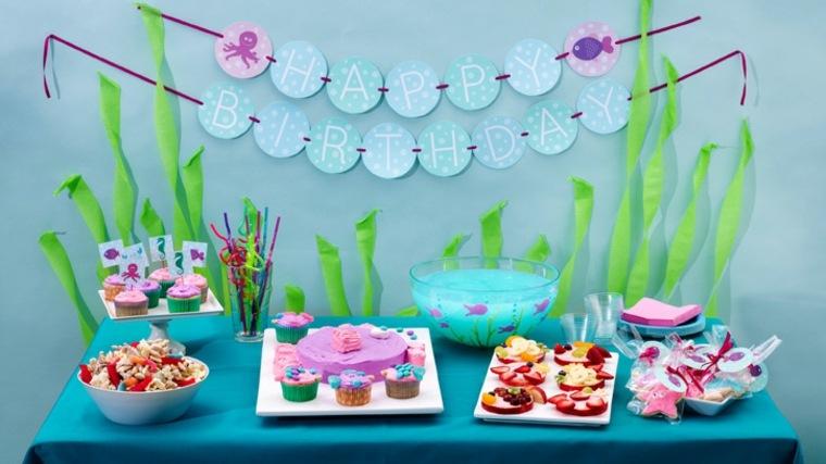 fiesta de cumpleaños decoracion marina