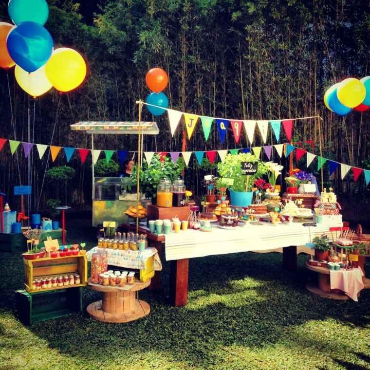 fiesta de cumpleaños en jardin