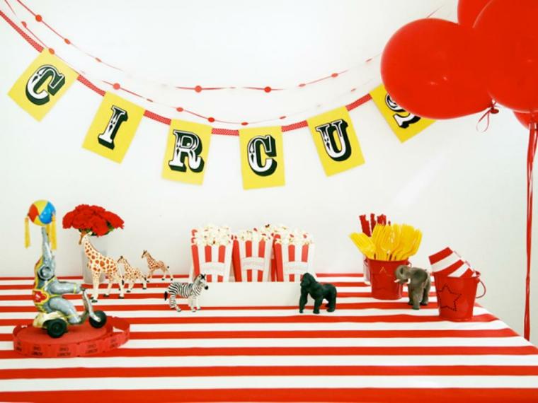 fiesta de cumpleaños estilo circo