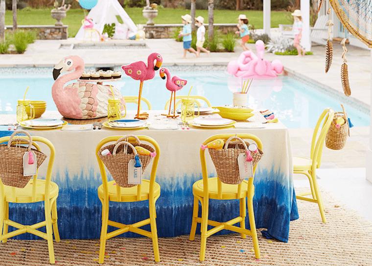 fiesta de cumpleaños flamingos