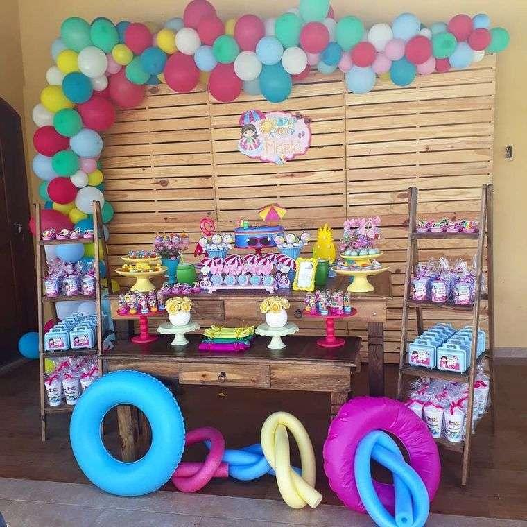 fiesta de cumpleaños ideas piscinas