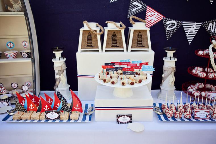 fiesta de cumpleaños inspiracion barcos