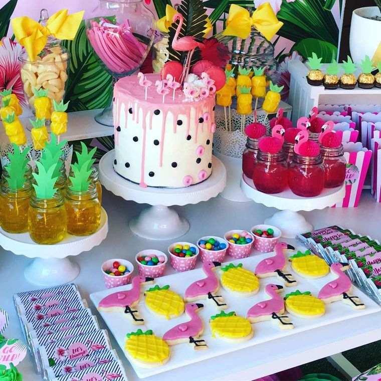 fiesta de cumpleaños mesa decorada