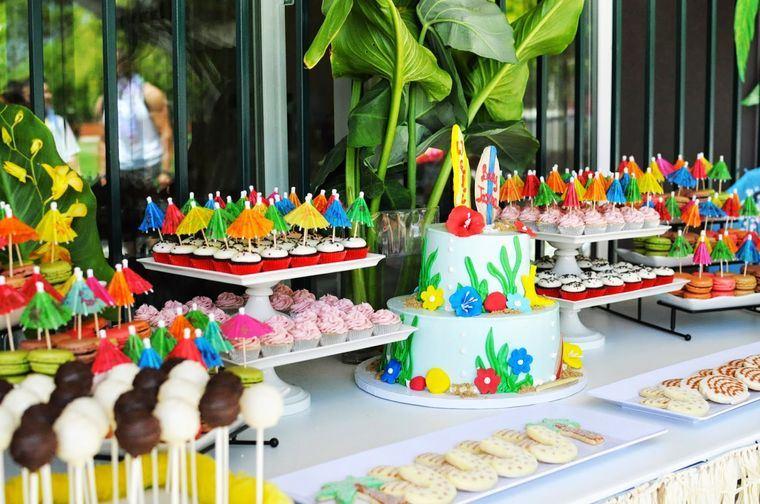 fiesta de cumpleaños mesa espectacular