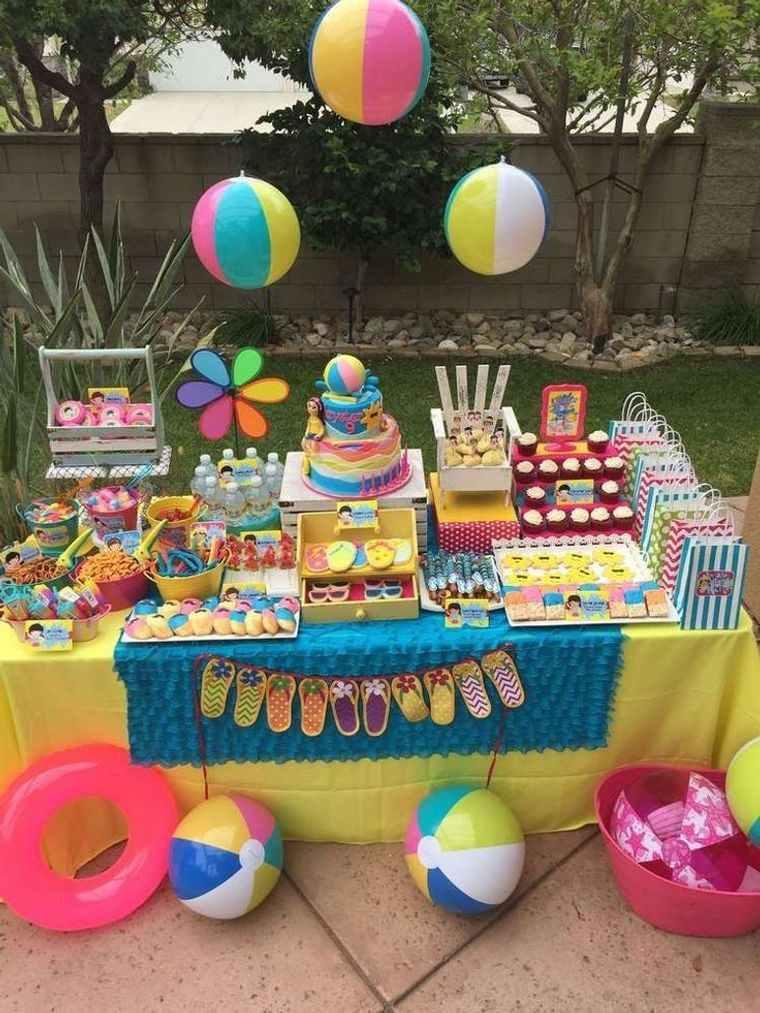 fiesta de cumpleaños pelotas de playa