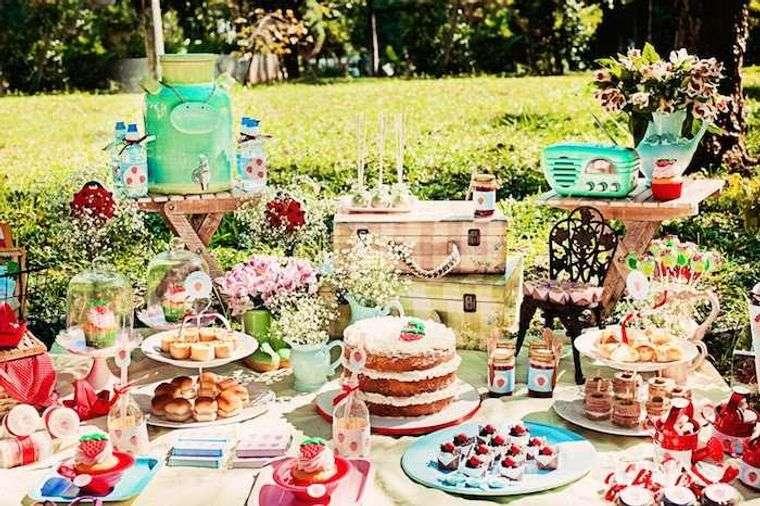 fiesta de cumpleaños picnic jardin