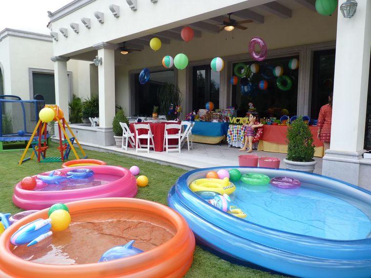 fiesta de cumpleaños piscinas inflables