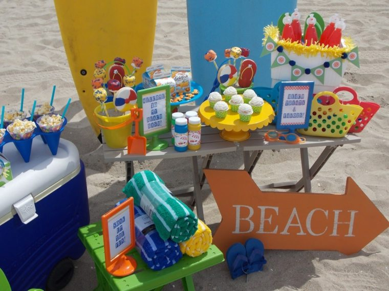 fiesta de cumpleaños playa