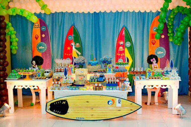 fiesta de cumpleaños tablas surf