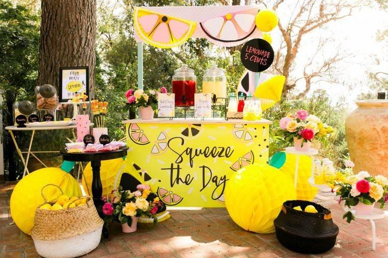 fiesta de cumpleaños tema limonadas