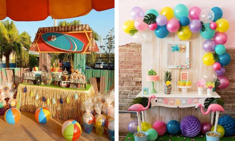 fiesta de cumpleaños tema tropical