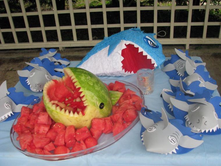 fiesta de cumpleaños tiburones