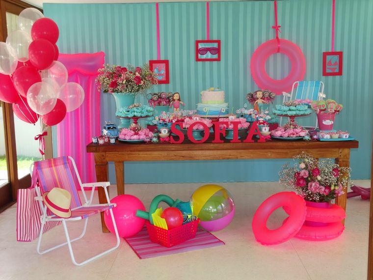 fiesta de cumpleaños verano rosado