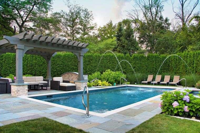garden house pergola pool