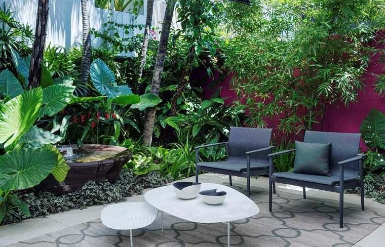 Jardines de bajo mantenimiento espacio-descanso