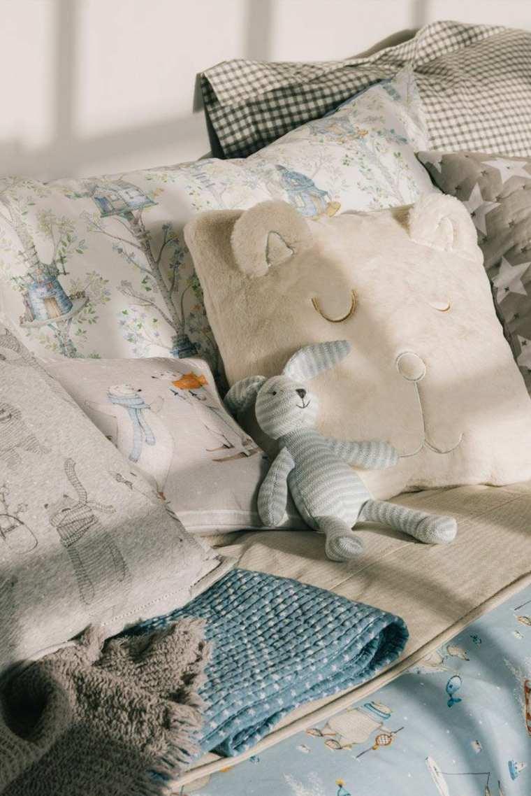 ropa de cama en capas