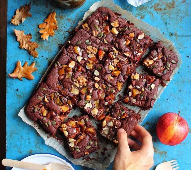 picnic brownie manzana