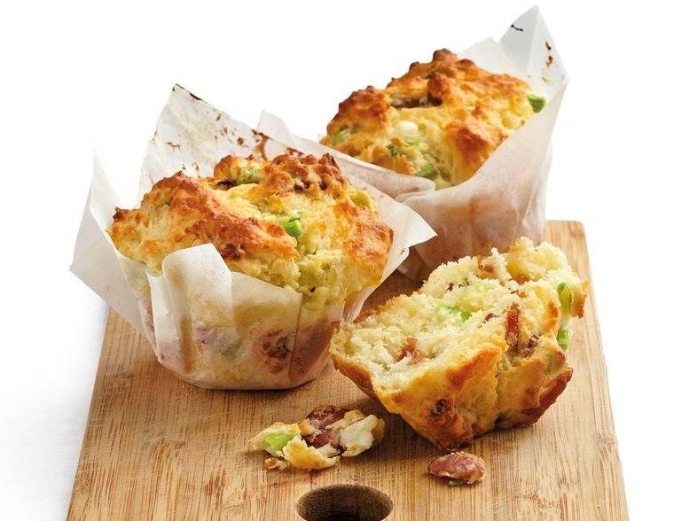 picnic muffins con tocino